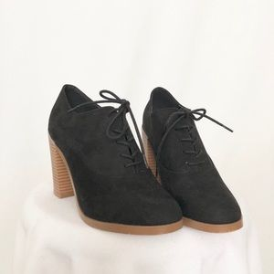 Forever 21 booties black wedges strappy comfy cute